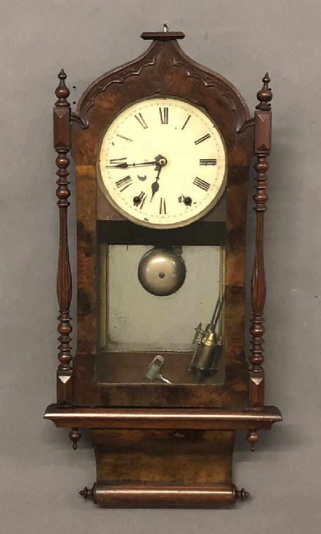 Victorian Mahogany Wall Clock