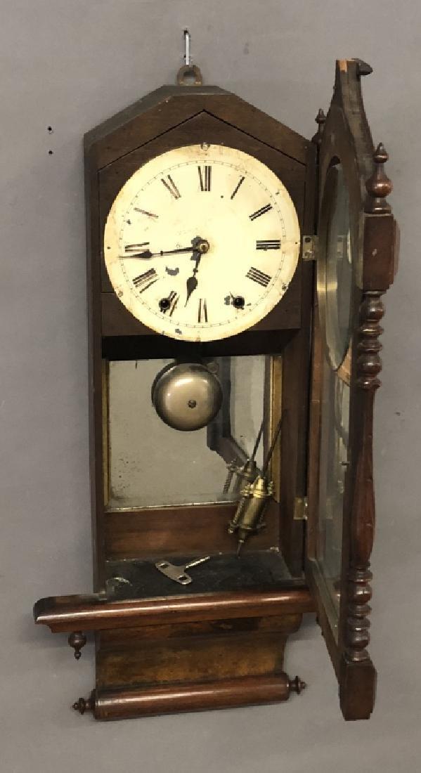 Victorian Mahogany Wall Clock - 2