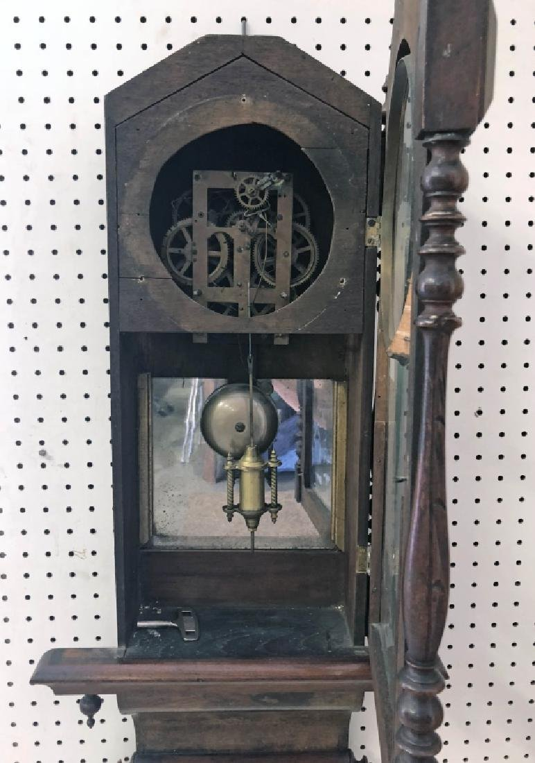 Victorian Mahogany Wall Clock - 3