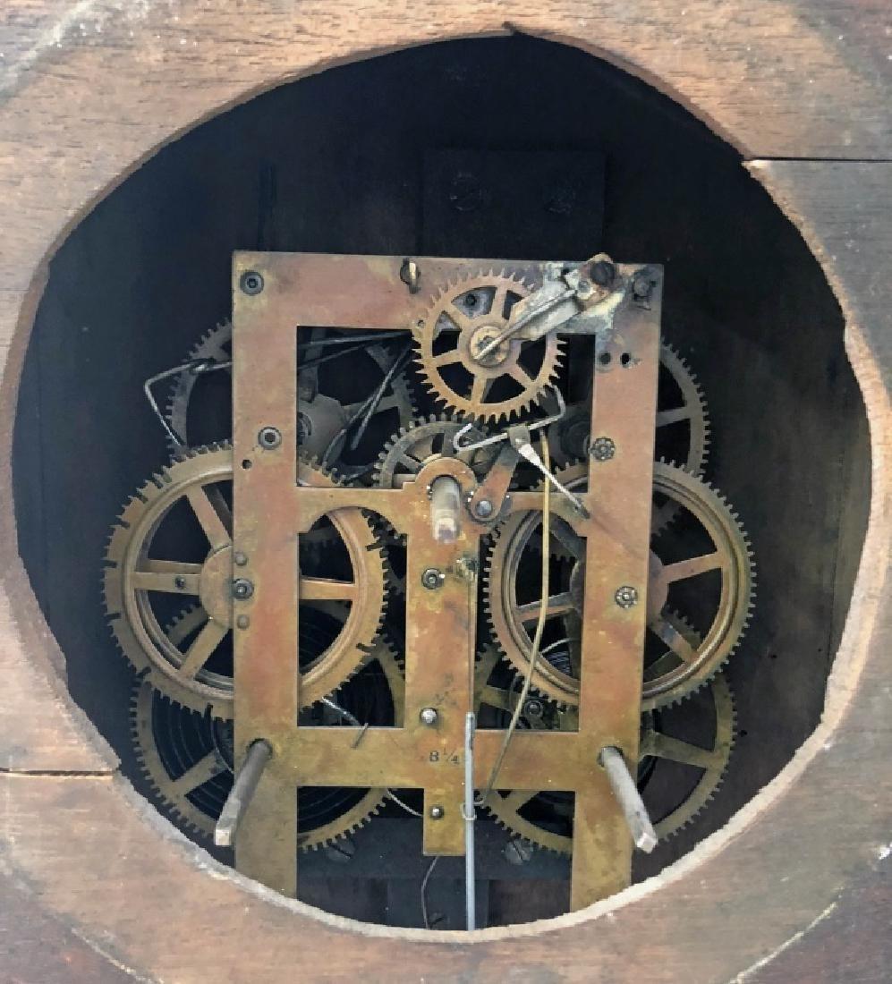 Victorian Mahogany Wall Clock - 4
