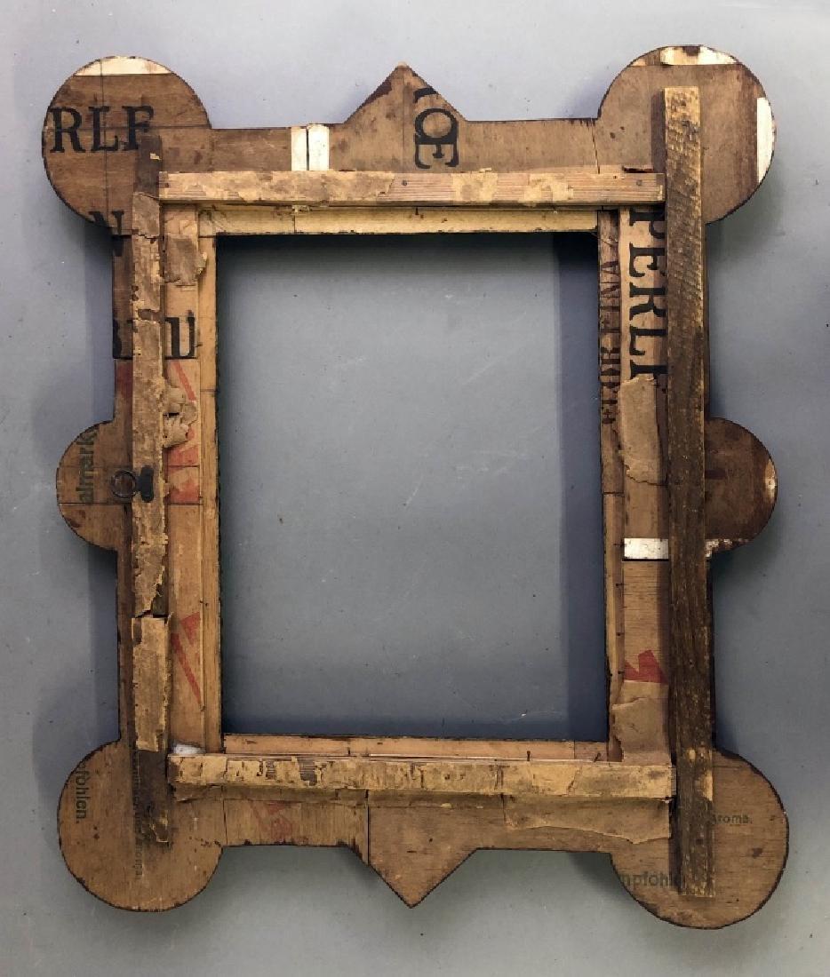 Tramp Art Brown Painted Frame - 2
