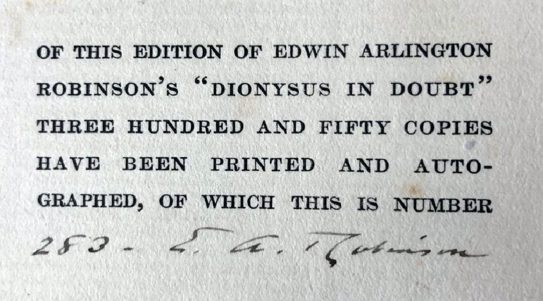 """Autographed """"Dionysus In Doubt, A Book of Poems"""" - 2"""