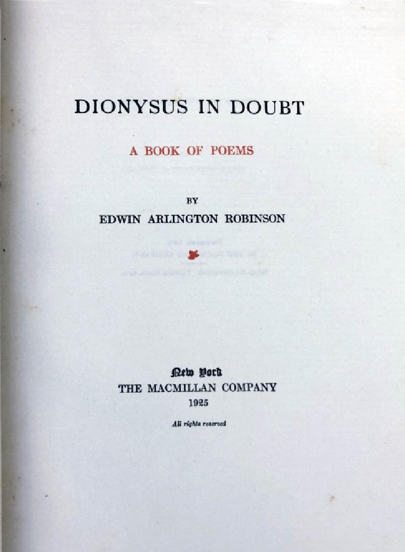 """Autographed """"Dionysus In Doubt, A Book of Poems"""" - 3"""
