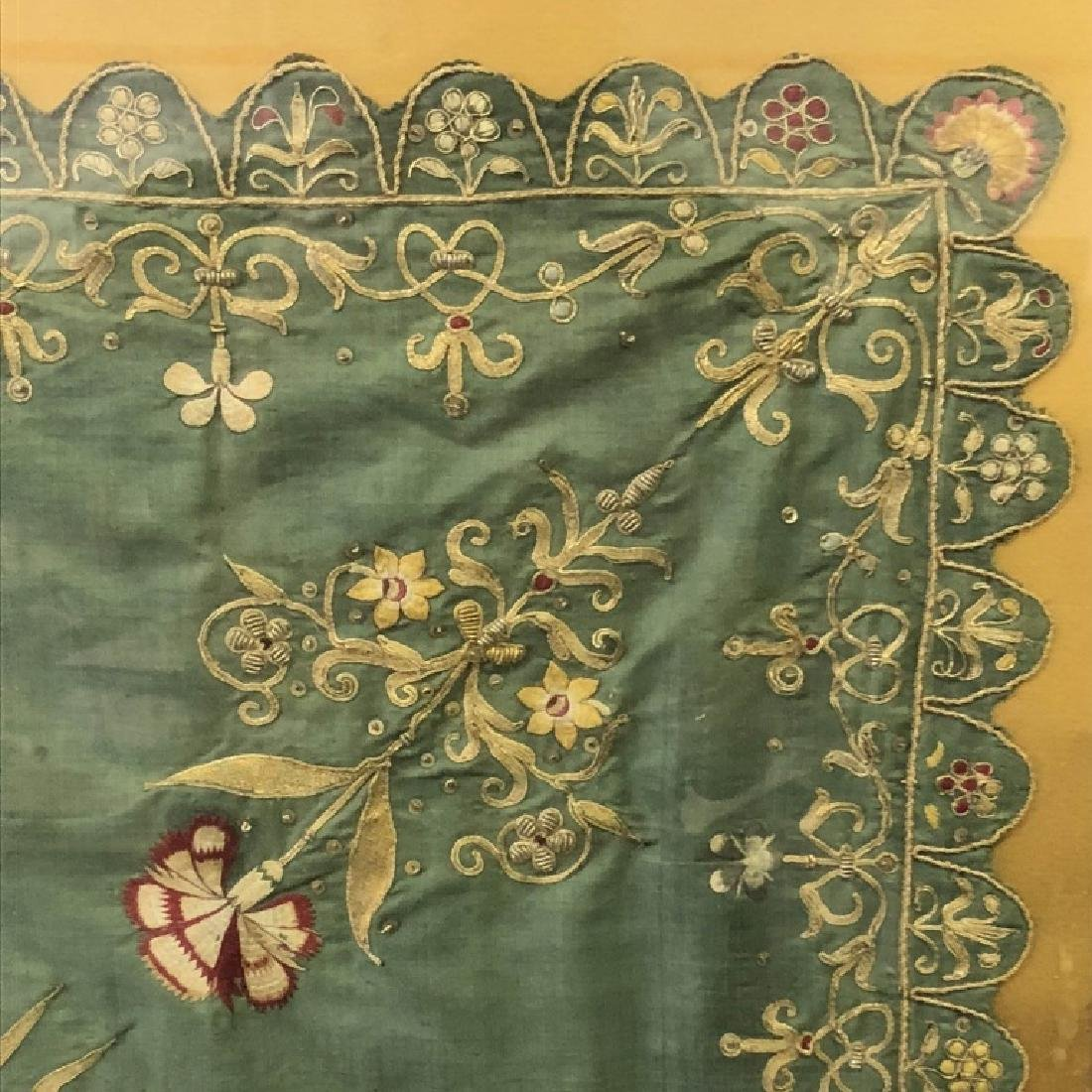 Framed Indian Gold Embroidery - 3