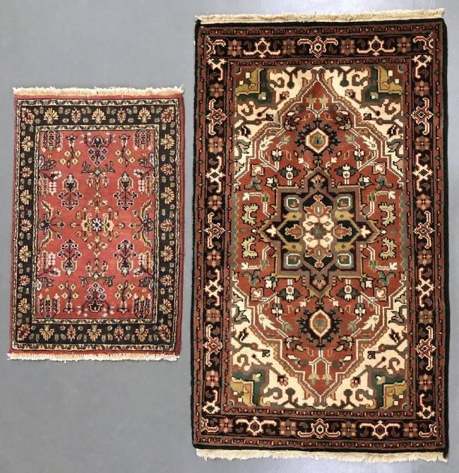 Heriz Rug together with a Smaller Mat