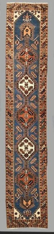 Persian Runner with Blue Field