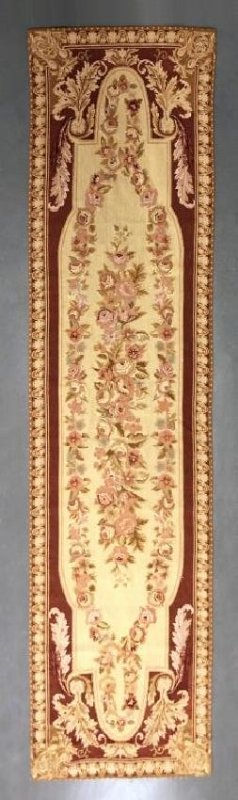 Needlepoint Aubusson Type Runner