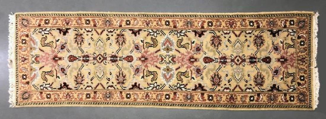 Agra Tribal Runner with Tan Field