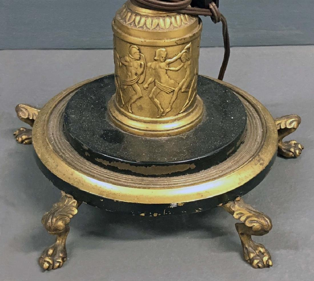 Greek Revival Style Torchiere Lamp - 4