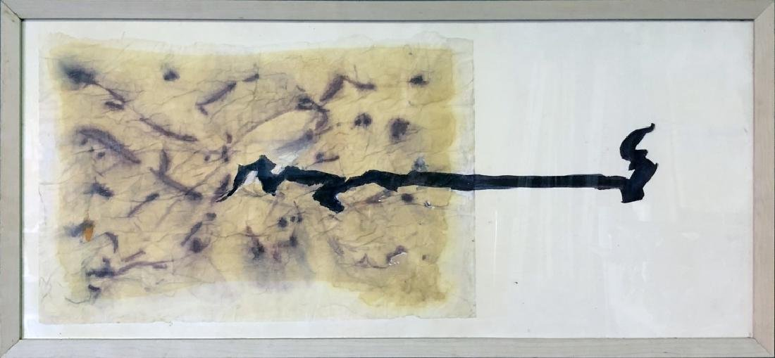 Framed Abstract Work on Paper