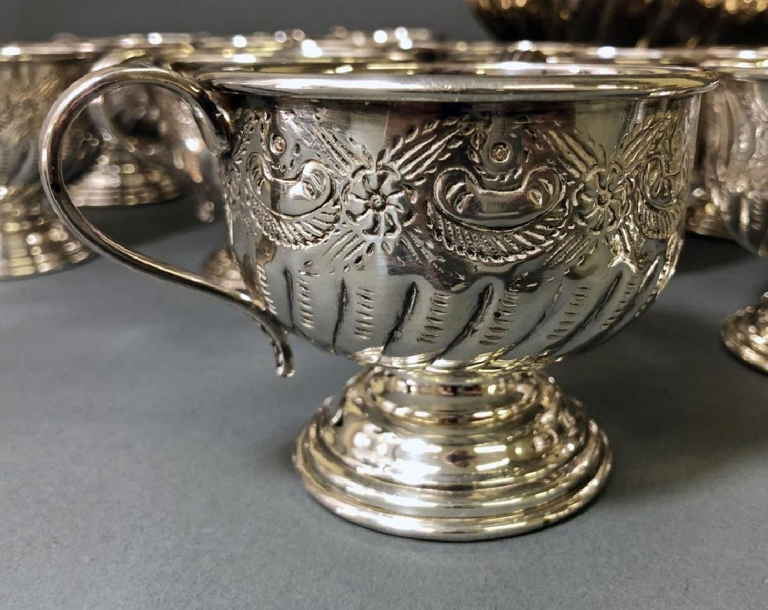 Sheffield Silverplate Punch Bowl and Cups - 4