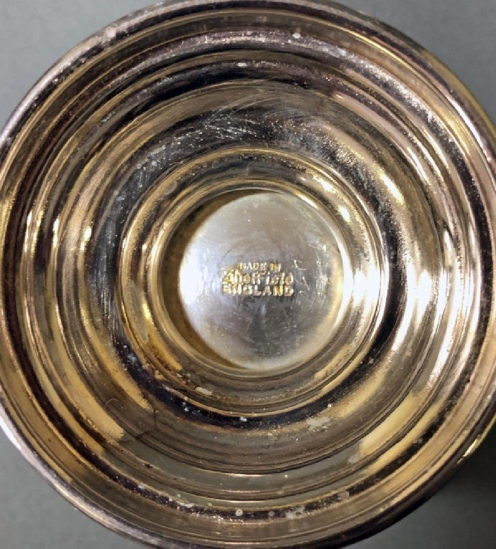 Sheffield Silverplate Punch Bowl and Cups - 5