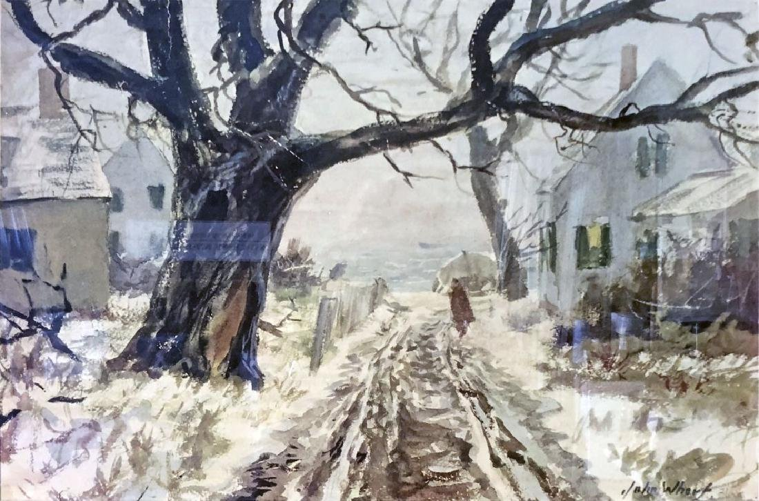 """John Whorf Print """"Winter by the Sea"""" - 2"""