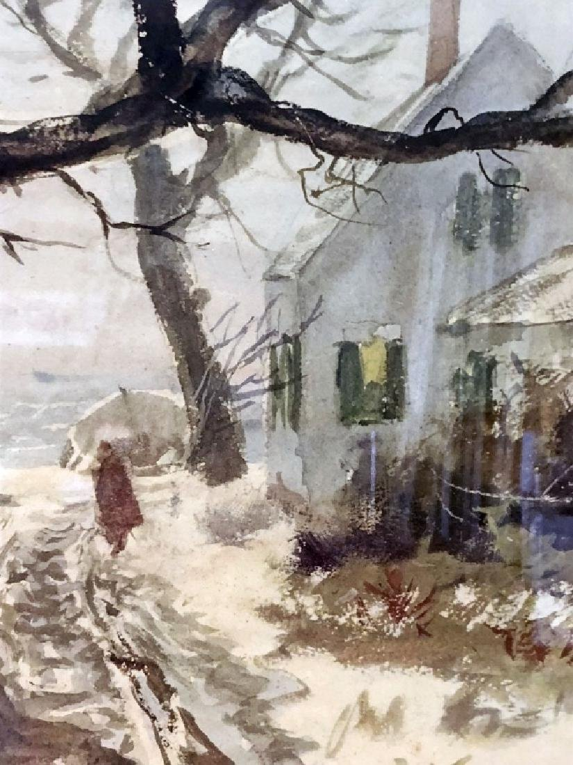 """John Whorf Print """"Winter by the Sea"""" - 4"""
