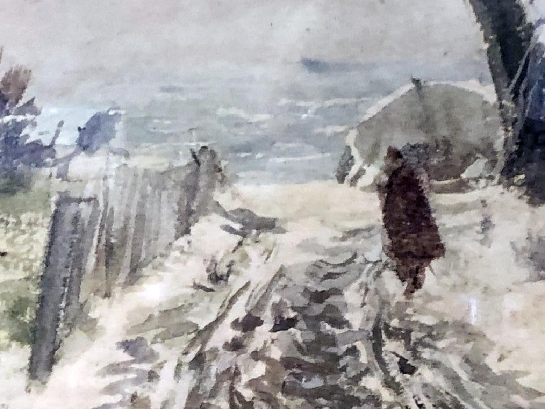 """John Whorf Print """"Winter by the Sea"""" - 5"""