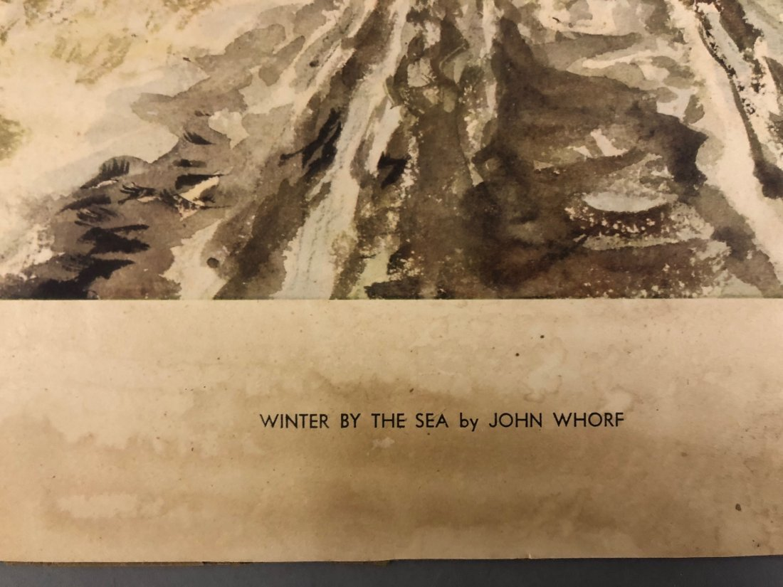 """John Whorf Print """"Winter by the Sea"""" - 9"""