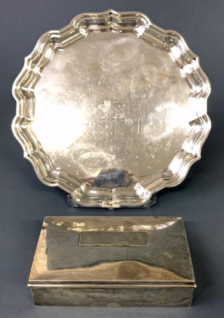 Sterling Silver Chippendale Pattern Dish and Box