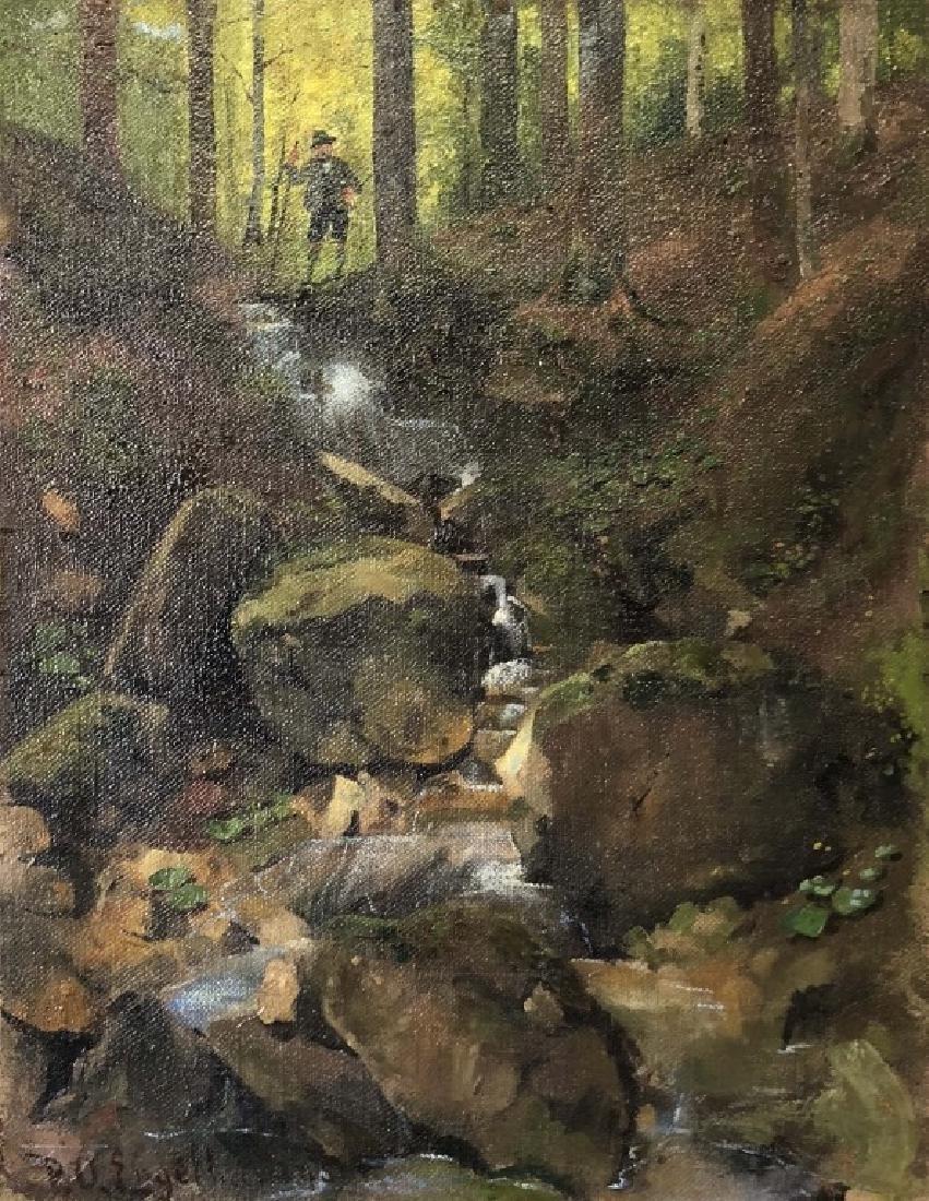 P.O. Engelhard Signed Oil on Canvas - 2
