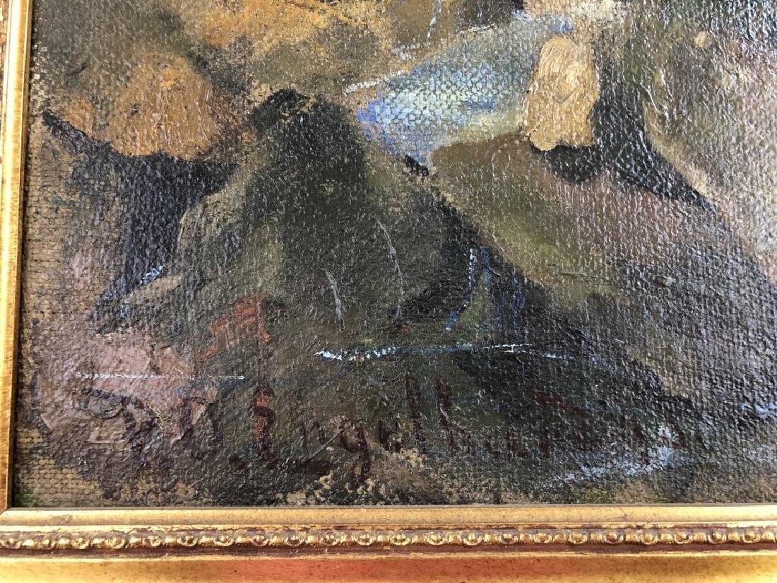 P.O. Engelhard Signed Oil on Canvas - 5