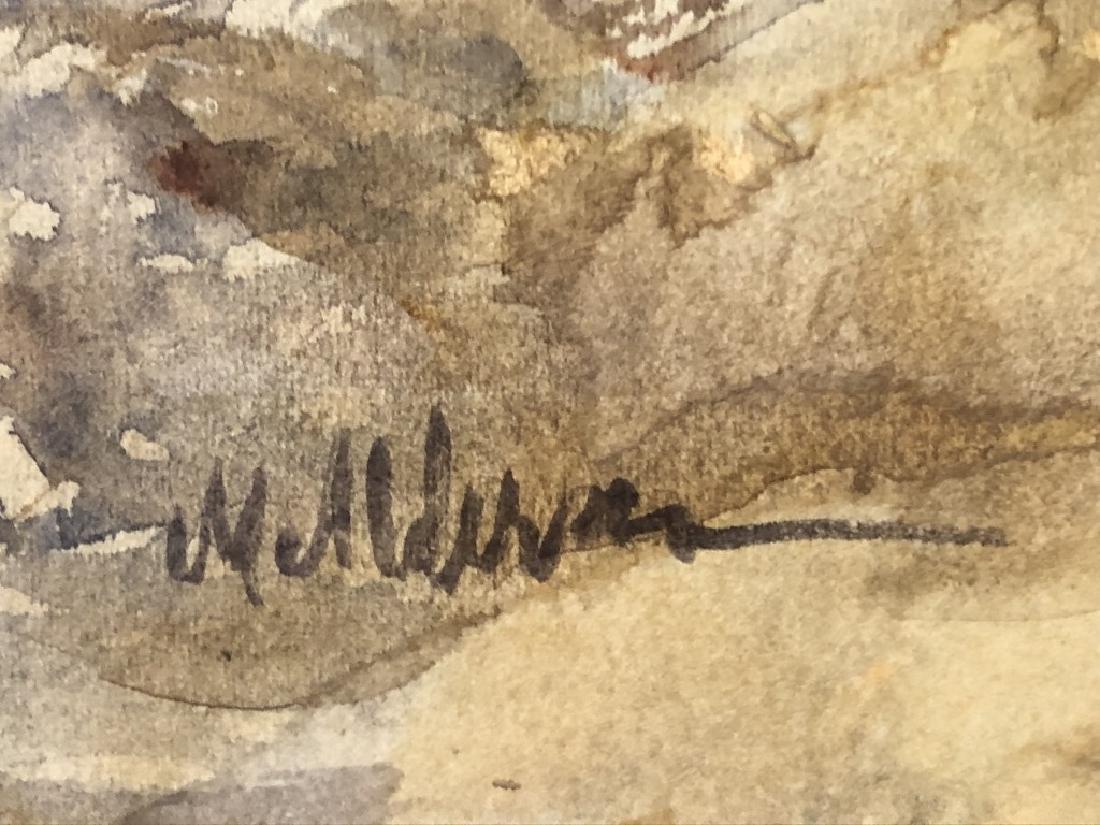 Signed Watercolor of a Rocky Shoreline - 3