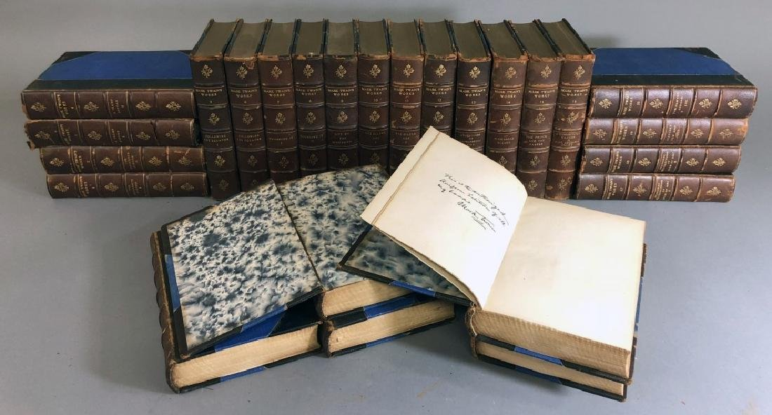 Twenty-Five Volume Set of the Works of Mark Twain