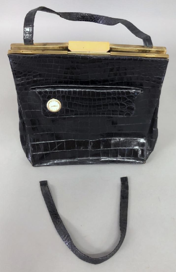 Vintage Koret Black Alligator Travel Bag - 2