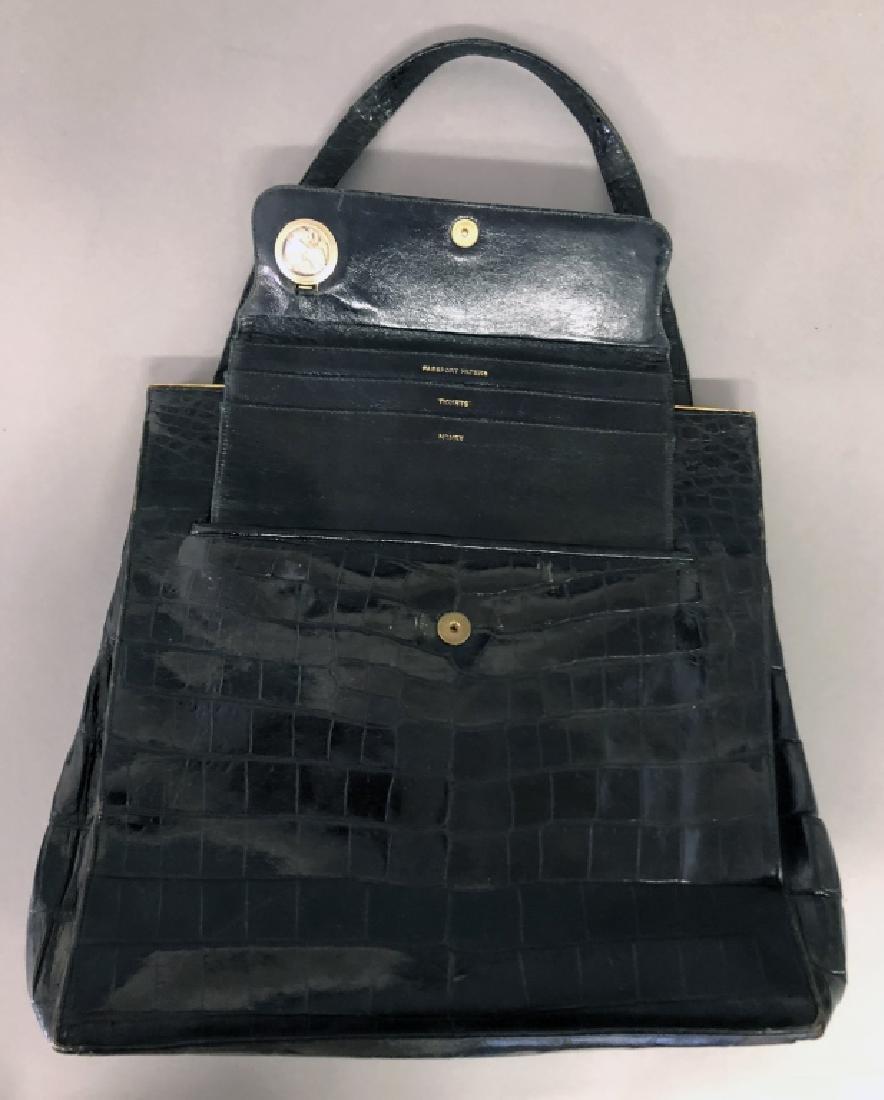 Vintage Koret Black Alligator Travel Bag - 3