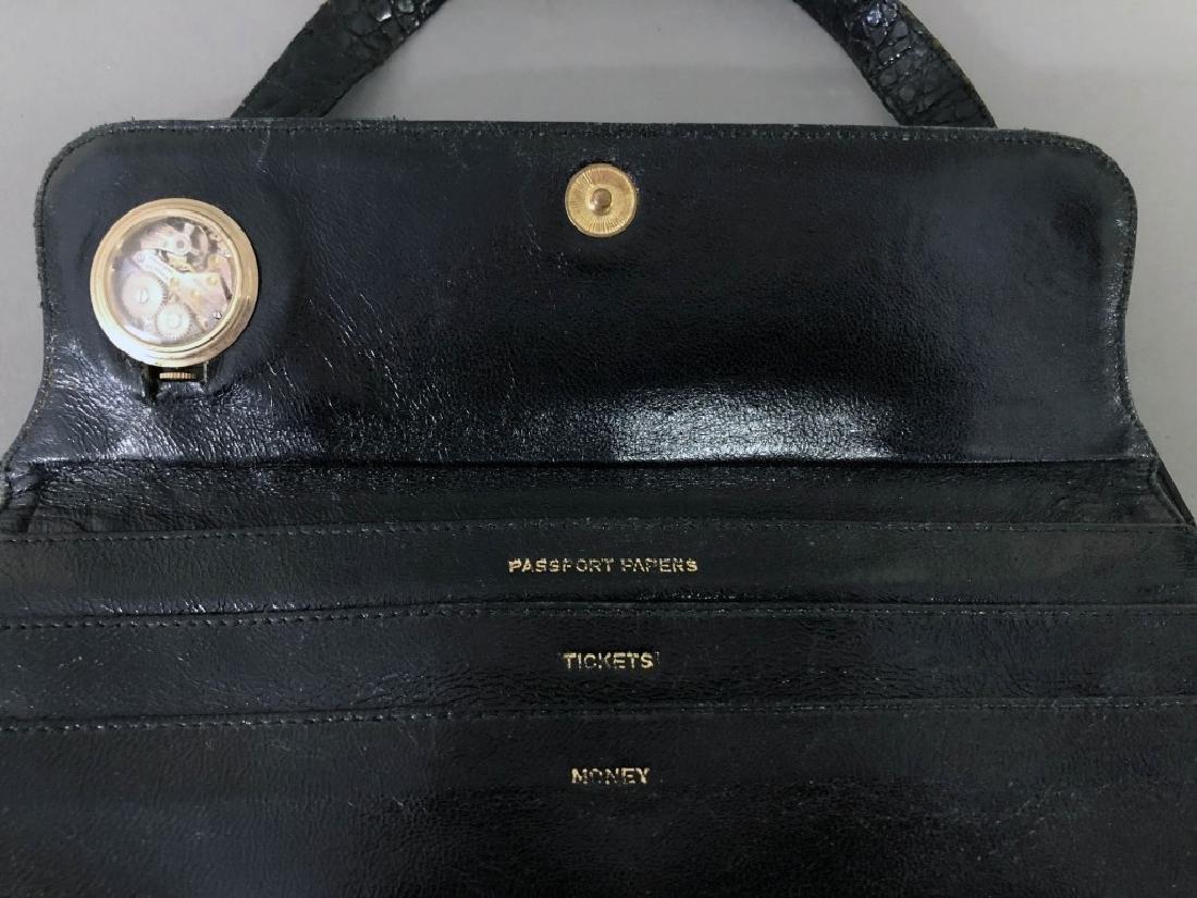 Vintage Koret Black Alligator Travel Bag - 4