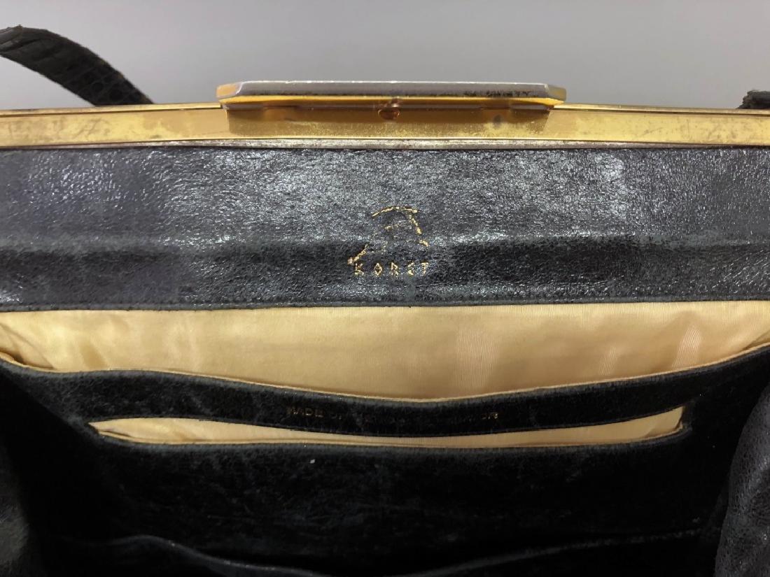 Vintage Koret Black Alligator Travel Bag - 7