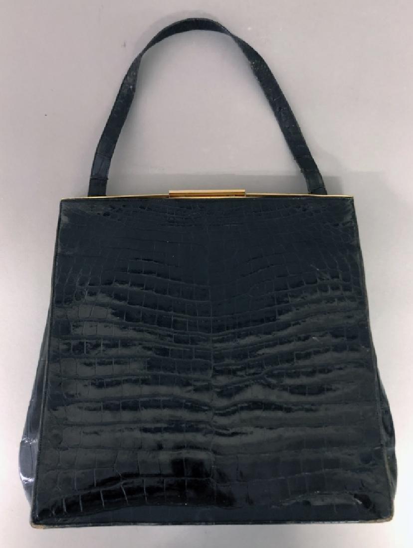 Vintage Koret Black Alligator Travel Bag - 8