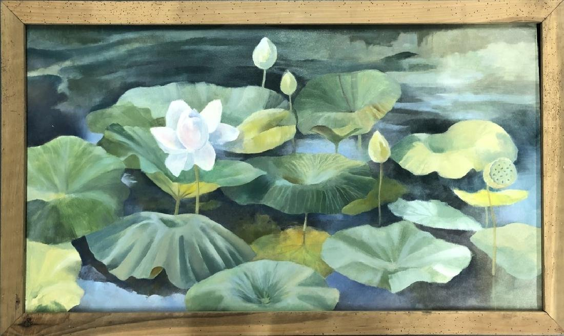 Two David Quigley Oil Paintings of Water Lilies - 2