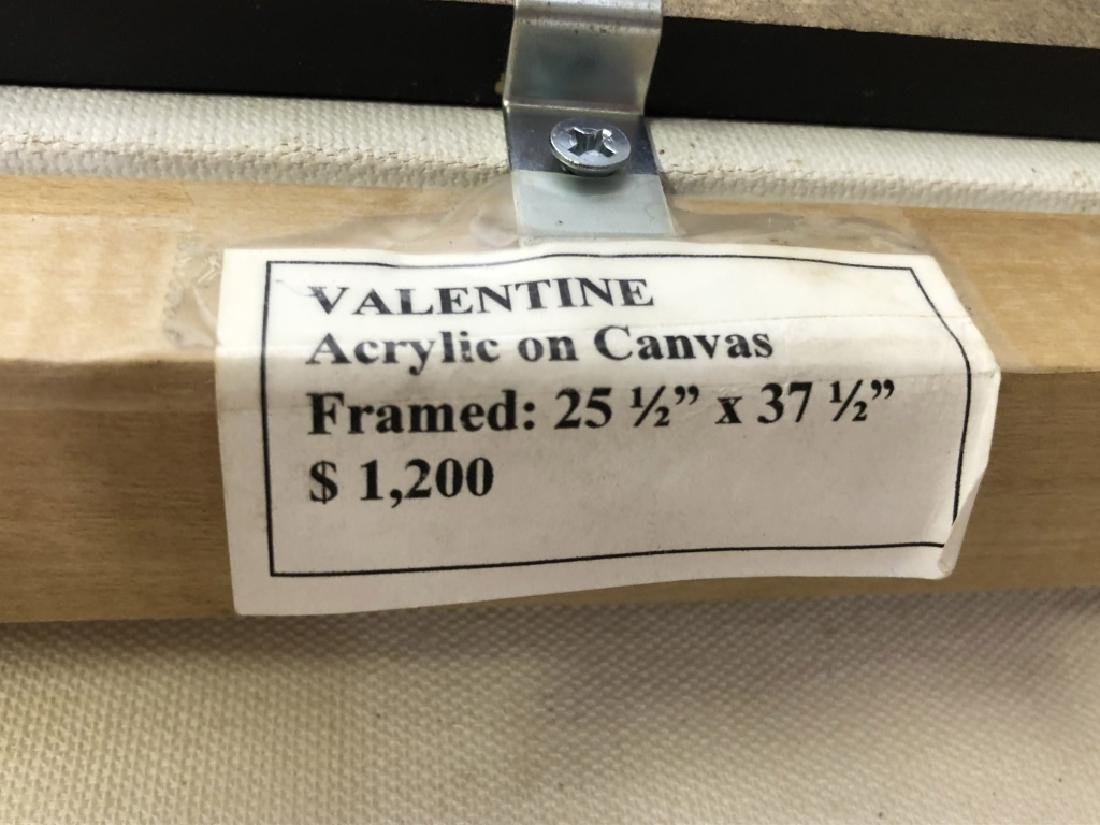 "Janeice Hotz Silberman ""Valentine"" Framed Acrylic - 4"
