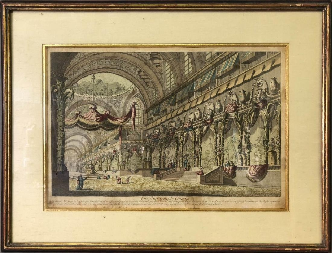 """J. Chereau Optical Print """"Vue d'un Temple Chinois"""""""