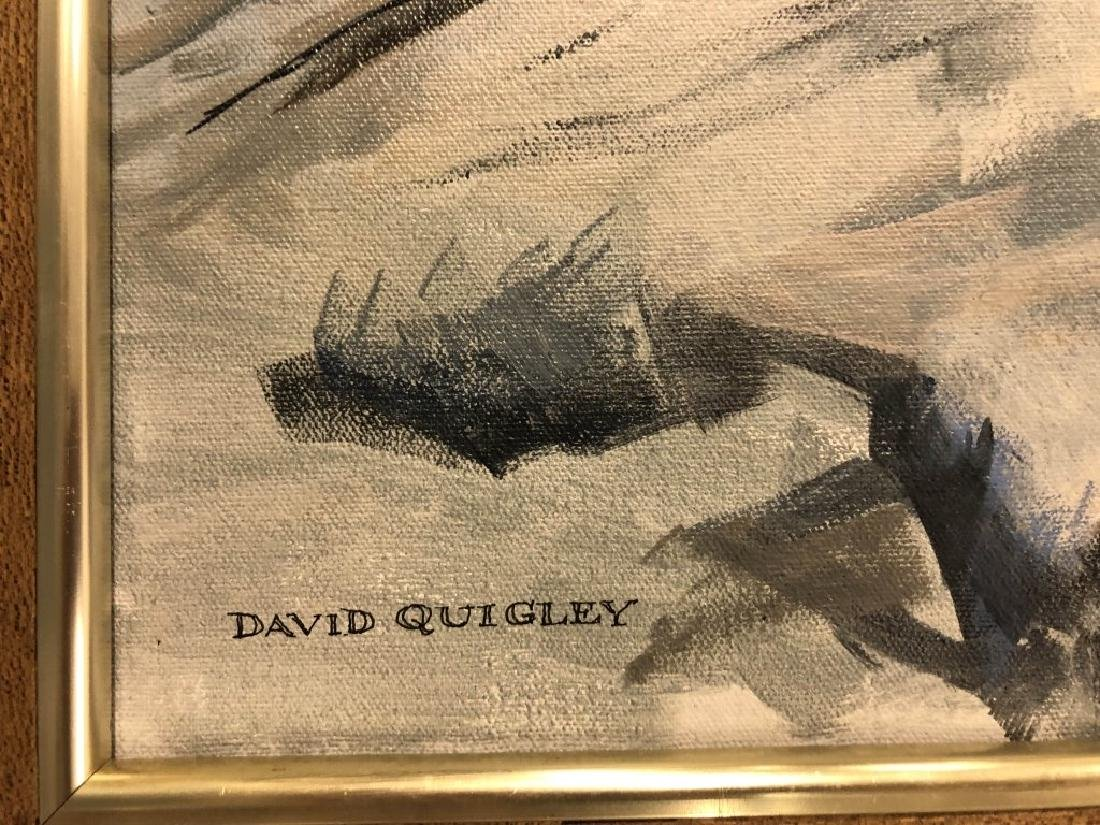 Two Quigley Oil Paintings of Maine Rocky Slopes - 3
