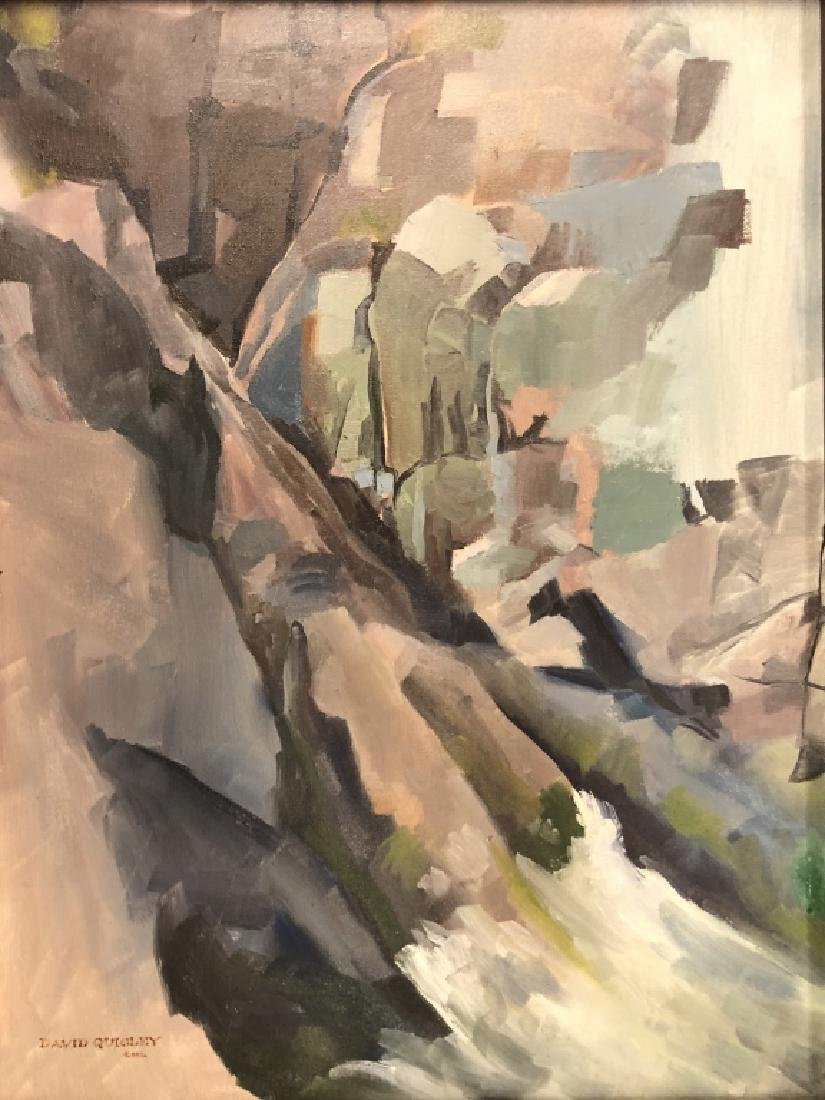 Two Quigley Oil Paintings of Maine Rocky Slopes - 5