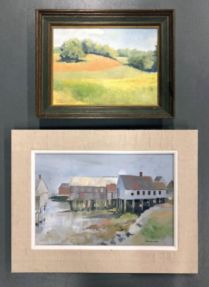 Two Oil Paintings by David Quigley
