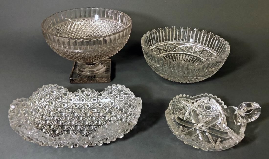 Pressed and Cut Glass