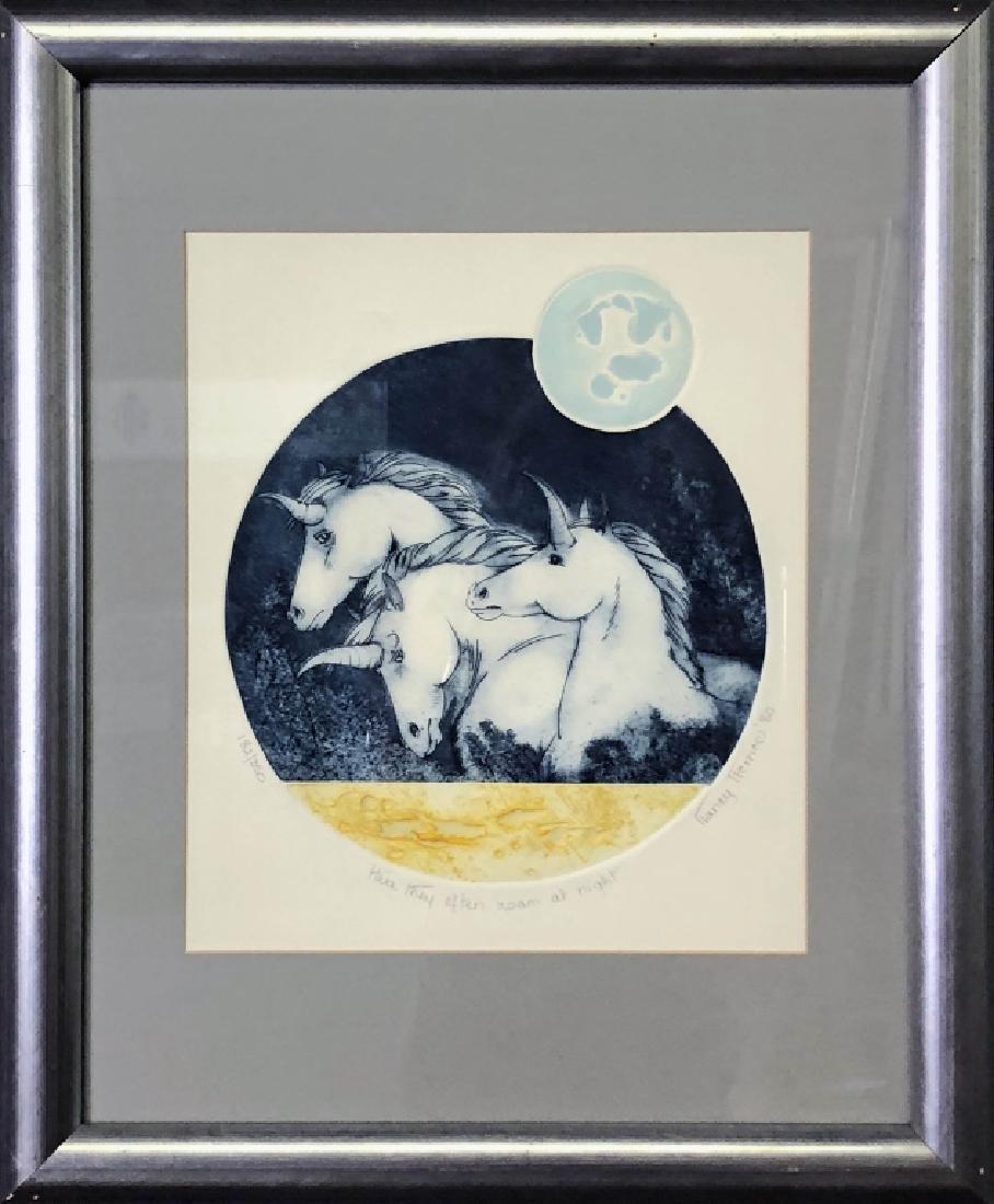 """Unicorn Print """"Here They Often Roam at Night"""""""