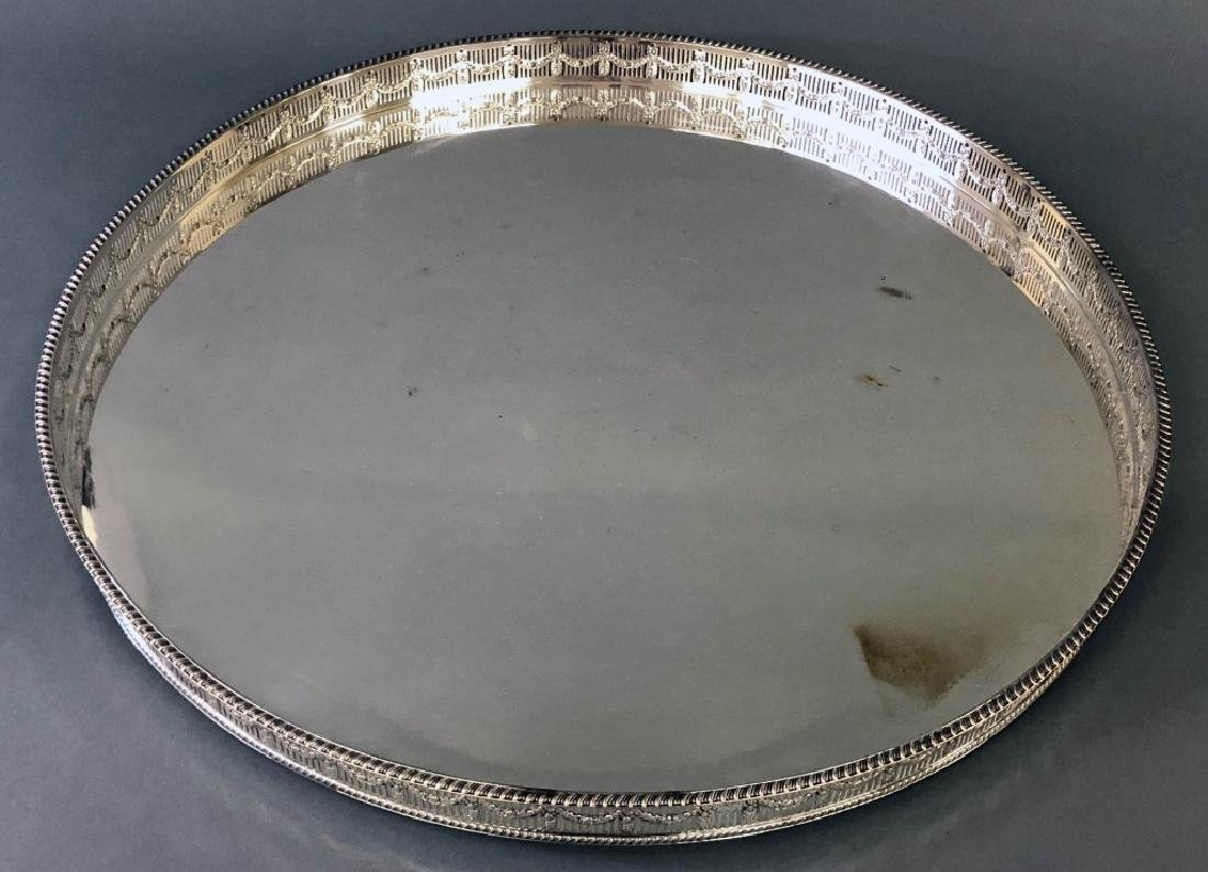Large Sheffield Adams Style Serving Tray - 2