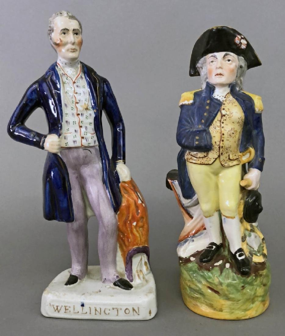 Staffordshire Figures of Lord Nelson and Wellingto