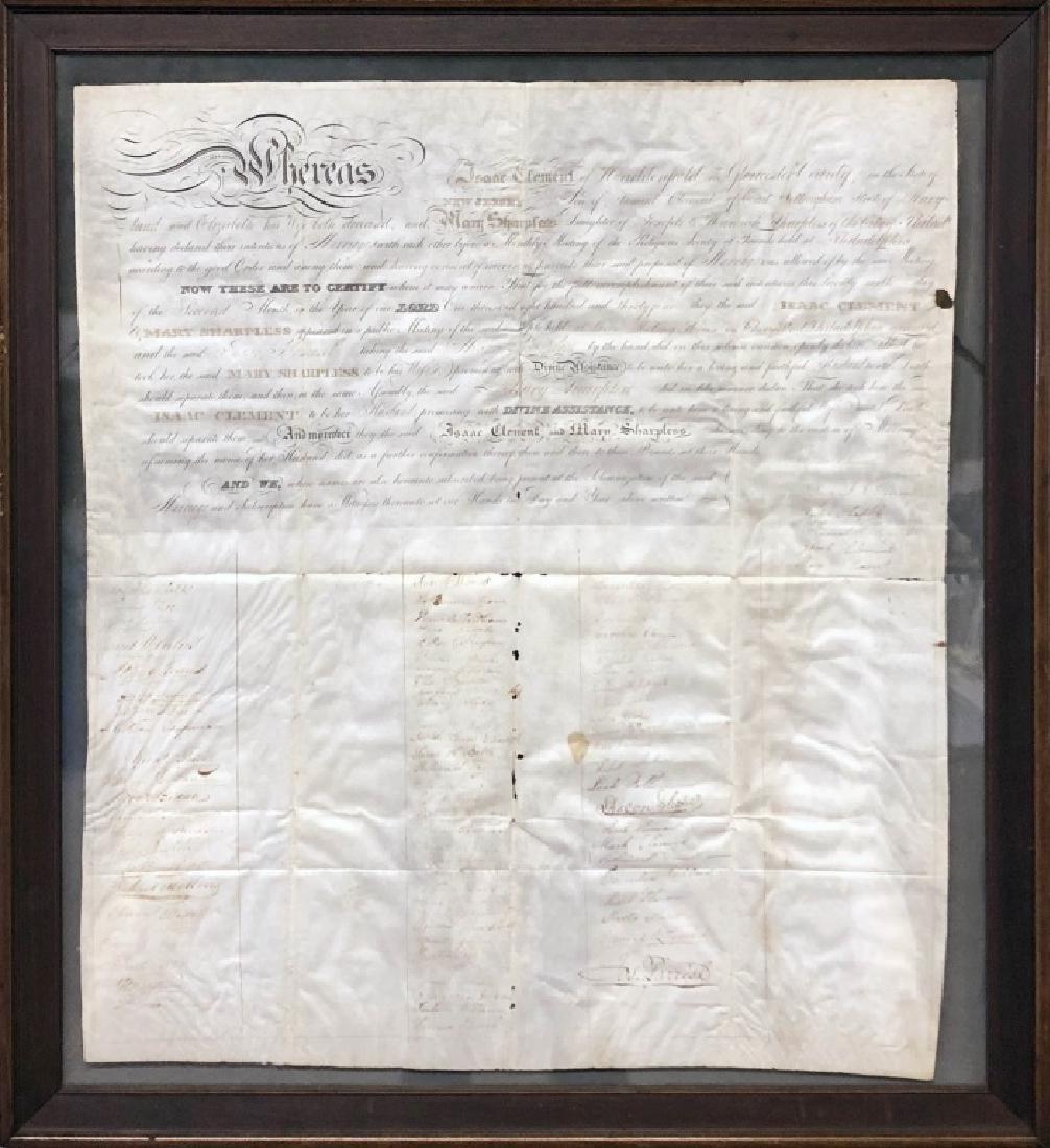 Framed Friends Meeting Marriage Certificate