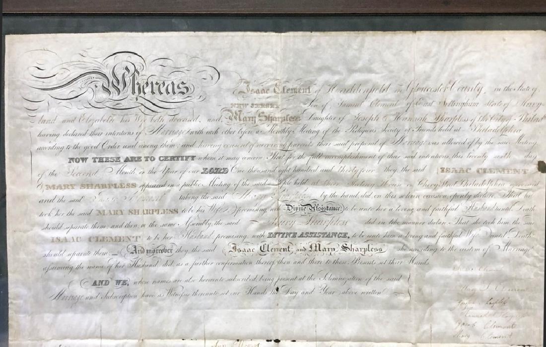 Framed Friends Meeting Marriage Certificate - 2