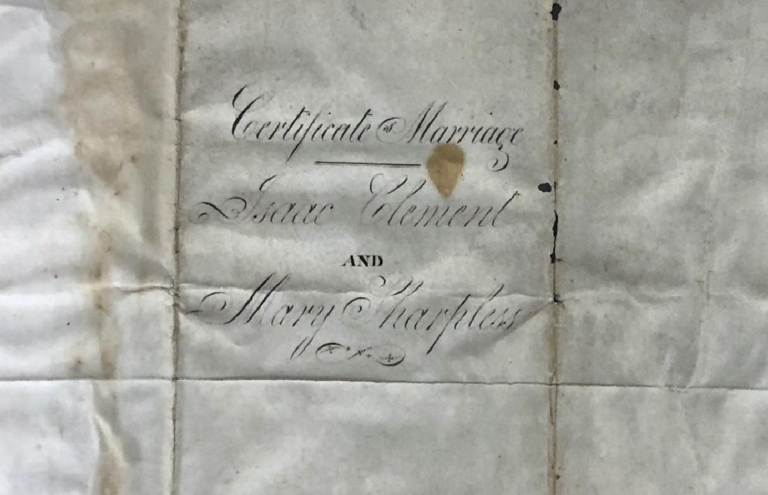 Framed Friends Meeting Marriage Certificate - 6