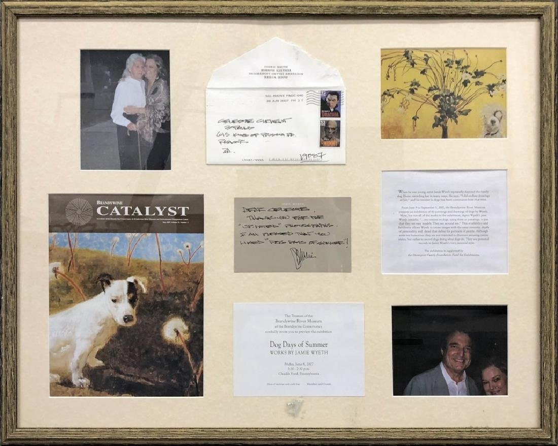 Two Framed Signed Jamie Wyeth Notes - 6