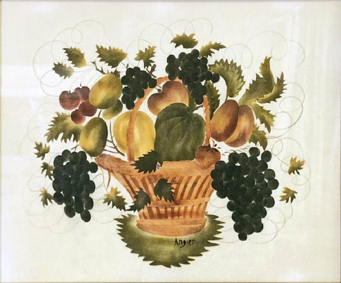 Theorem of a Basket of Fruit Signed Hope R. Angier - 2