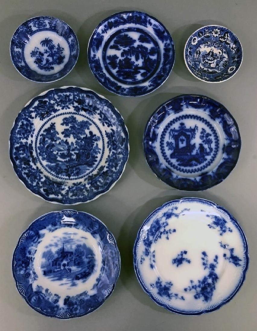 Six Flow Blue Dishes