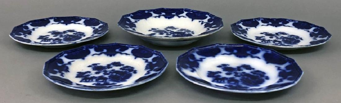 Cashmere Bowl and Four Plates - 3