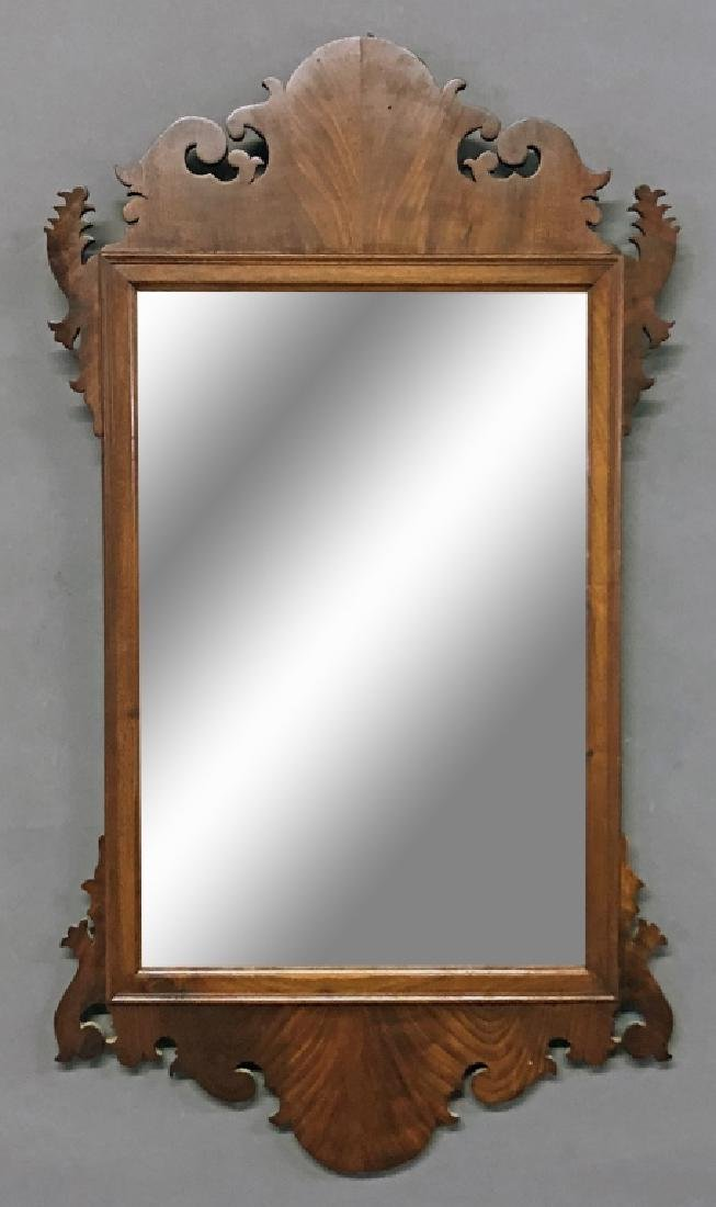 Large Chippendale Style Mahogany Mirror