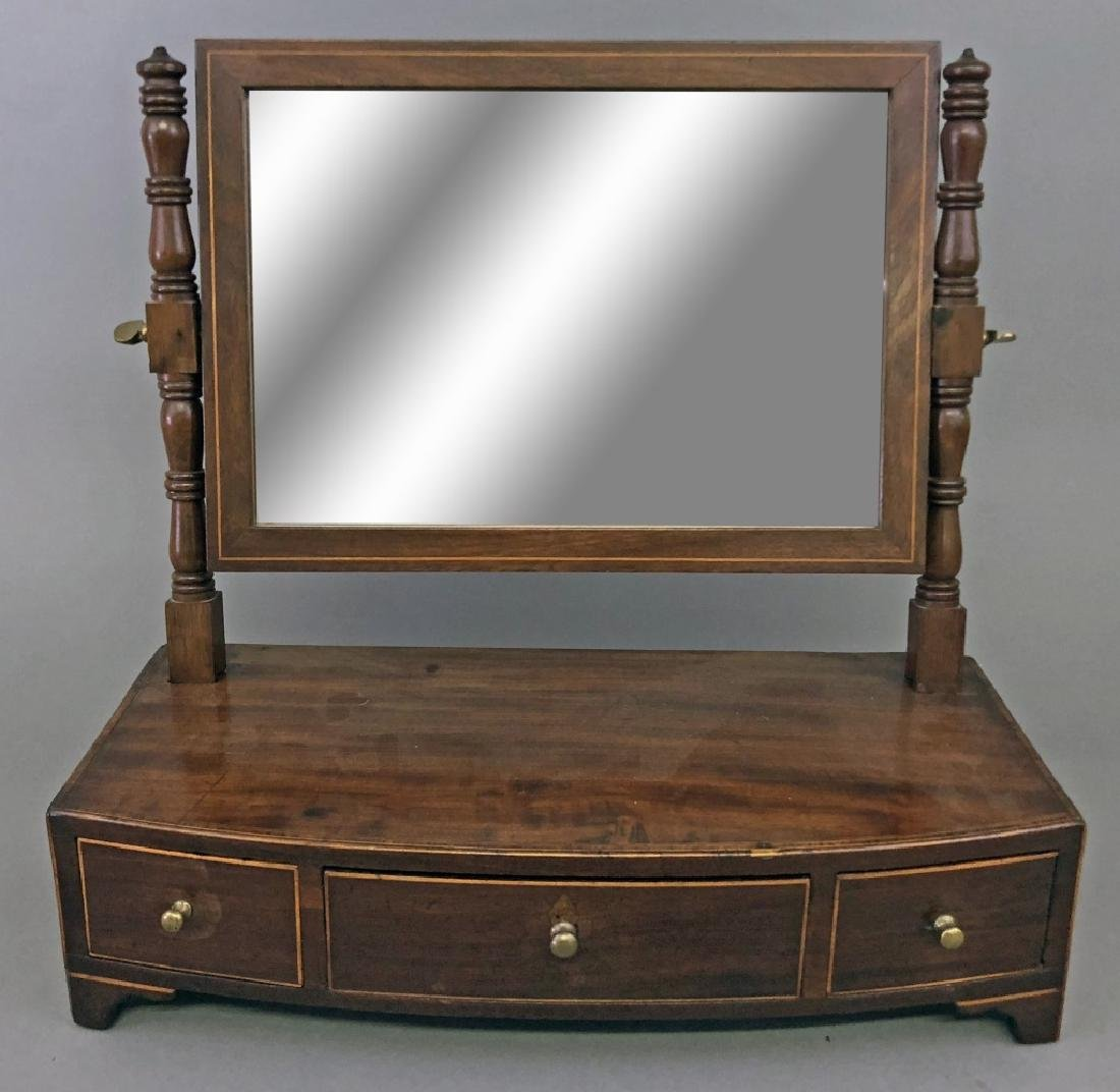 Georgian Mahogany Shaving Mirror