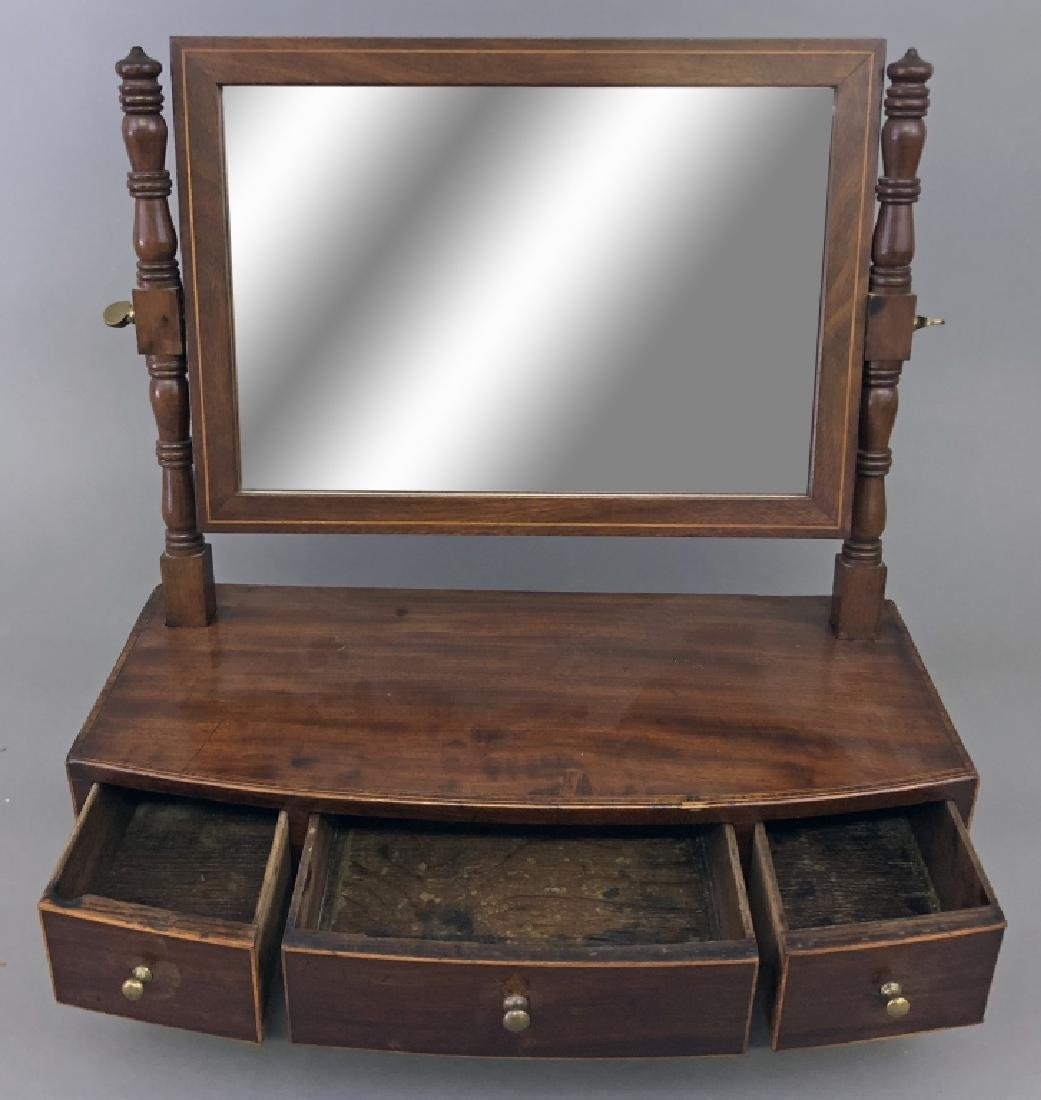 Georgian Mahogany Shaving Mirror - 2
